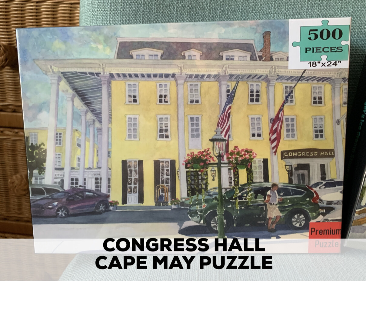 "Cape May Puzzle - 500 Piece Congress Hall Puzzle 18""x24"""