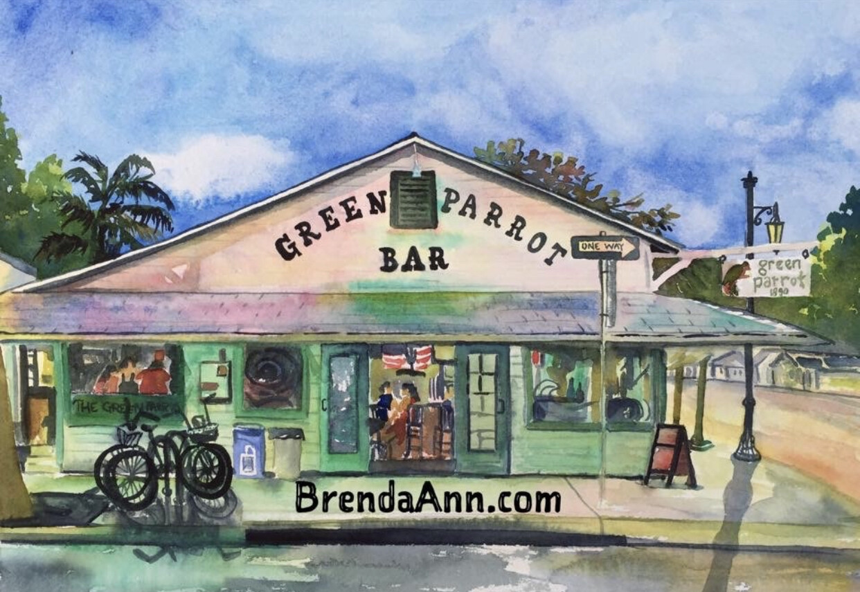 """PUZZLE - 500 Piece Green Parrot Bar Key West Florida Keys Puzzle 18""""x24"""" Special Order - Allow 3 Weeks"""
