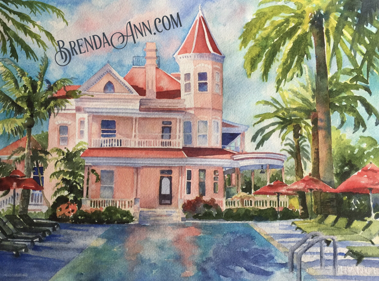 "Key West Puzzle - 500 Piece Southernmost House Puzzle 18""x24""  - Special Order Allow 6 Weeks"