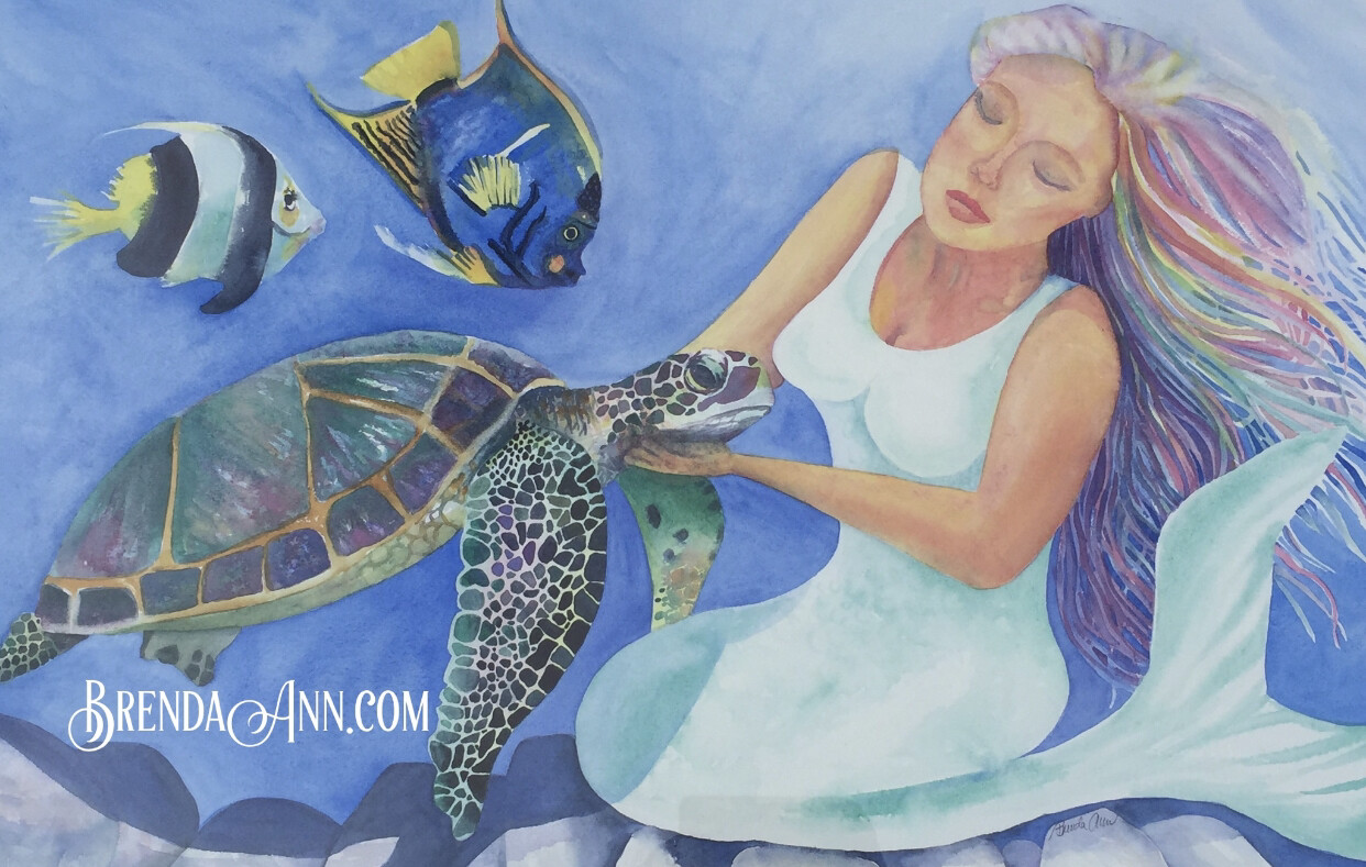 "PUZZLE - 500 Piece Motherly Love Mermaid Puzzle 18""x24"" Special Order - Allow 3 Weeks"