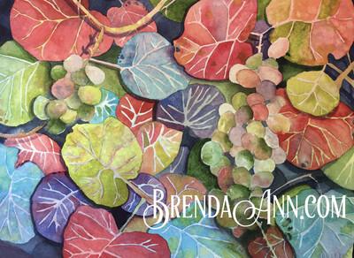 Florida Keys Puzzle - 500 Piece Seagrape Leaves Puzzle 18