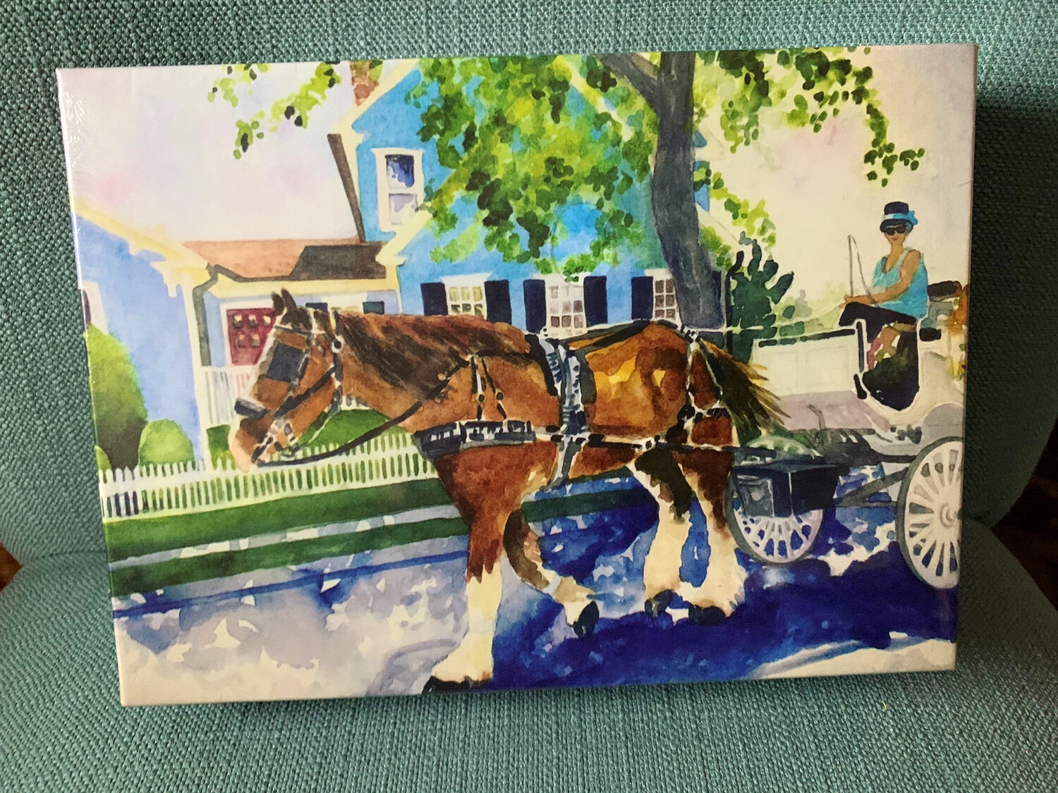 "Cape May Puzzle - 500 Piece Horse And Carriage Puzzle 18""x24"""