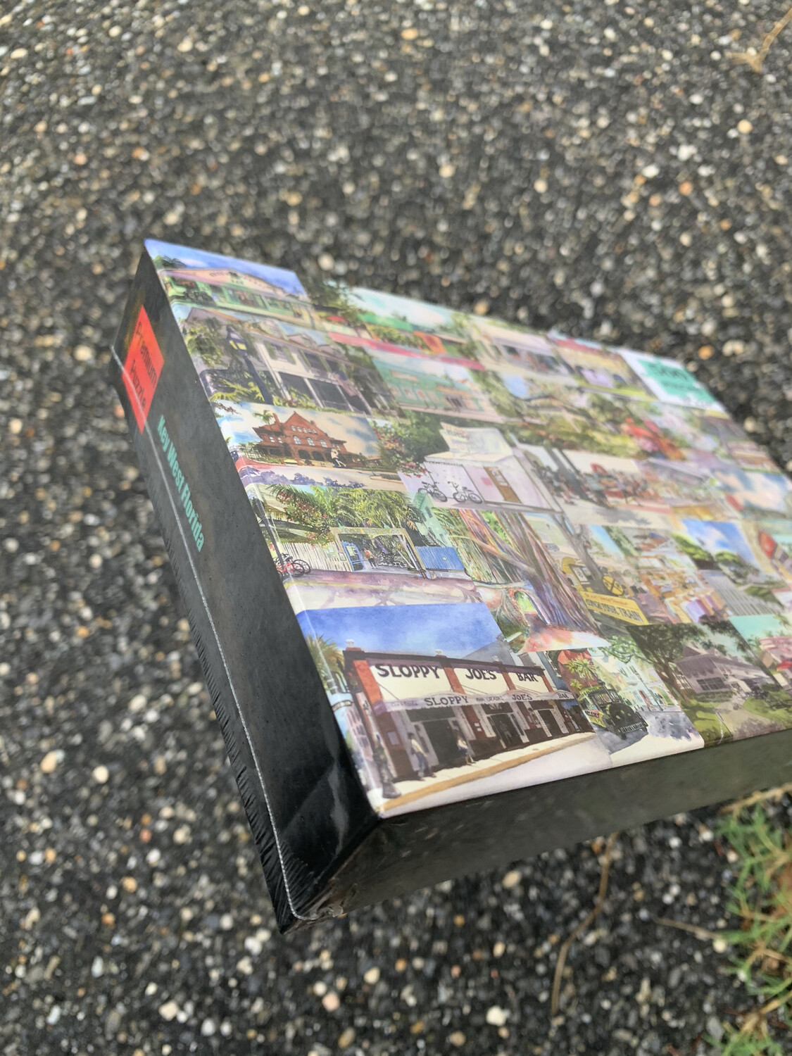 """PUZZLE - 500 Piece Key West Florida Puzzle - Watercolor artwork designed by Brenda Ann - Assembled size 18""""x24"""" - Special Order - Allow 3 Weeks"""
