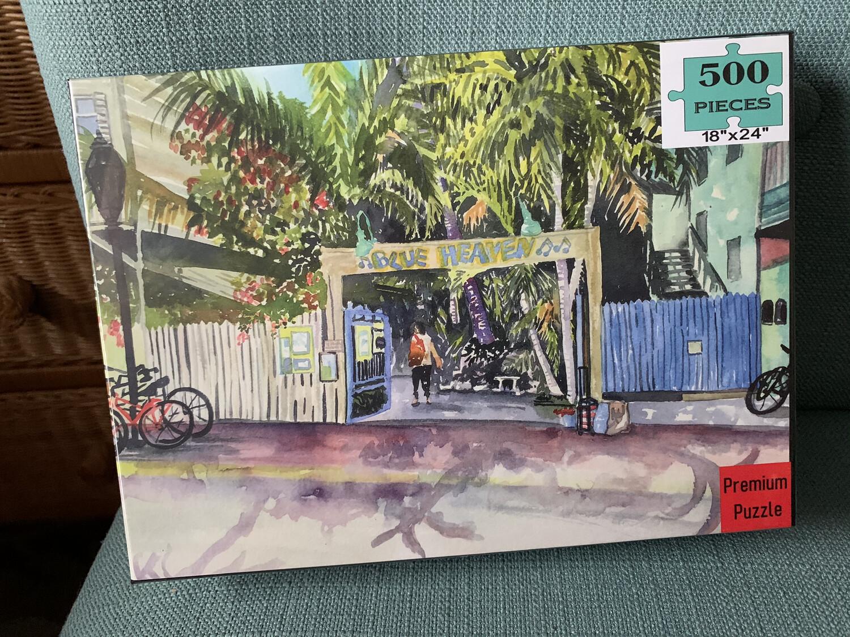 "PUZZLE - 500 Piece Blue Heaven Key West Florida Keys Puzzle 18""x24"" Special Order - Allow 3 Weeks"