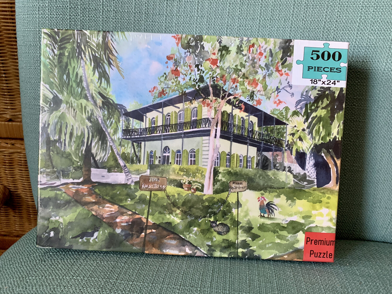 "PUZZLE - 500 Piece Hemingway House Key West Florida Keys Puzzle 18""x24"""