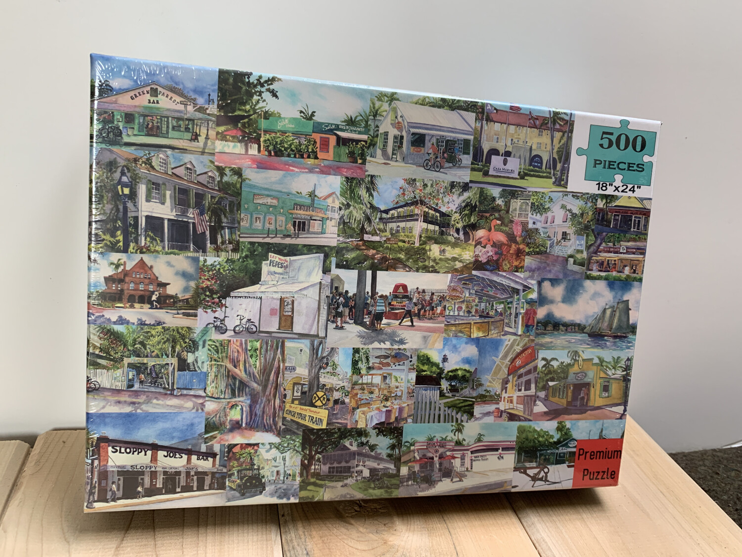 "Key West Puzzle - 500 Piece Puzzle 18""x24"""