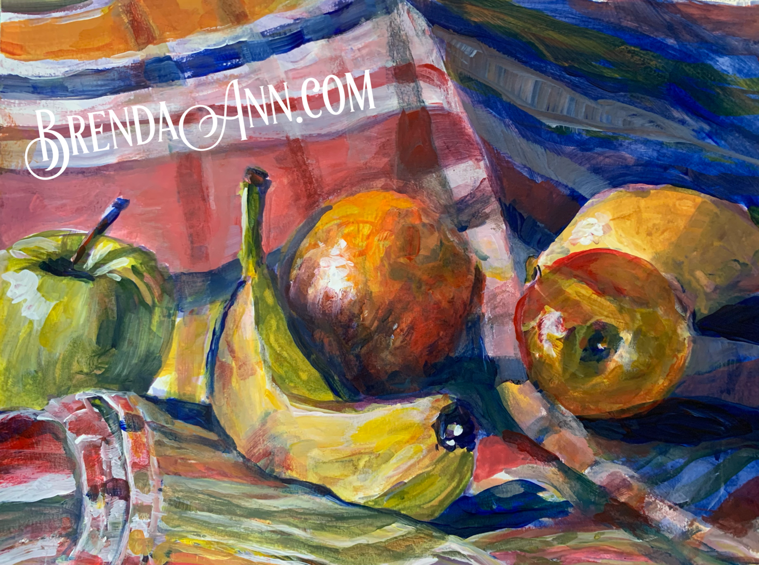 Plentiful Fruits - Hand Signed Still Life Archival Watercolor Print