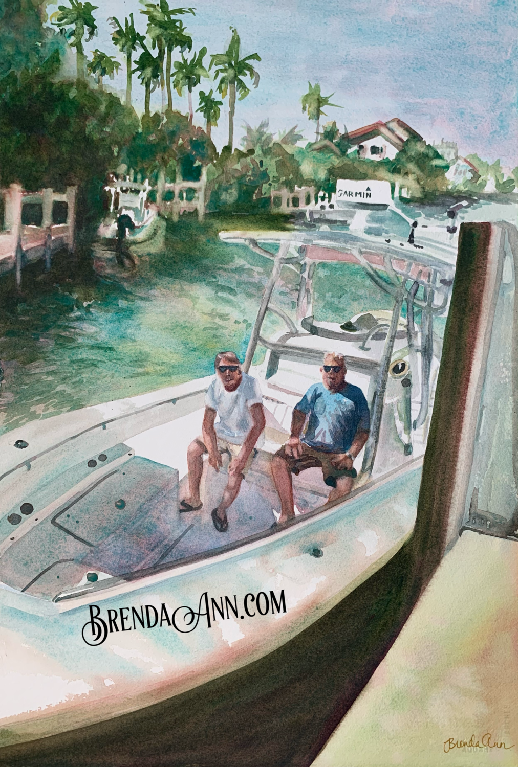 Custom House, Vehicle, or Boat Portrait - 11x14 inch Original Watercolor Painting Made To Order
