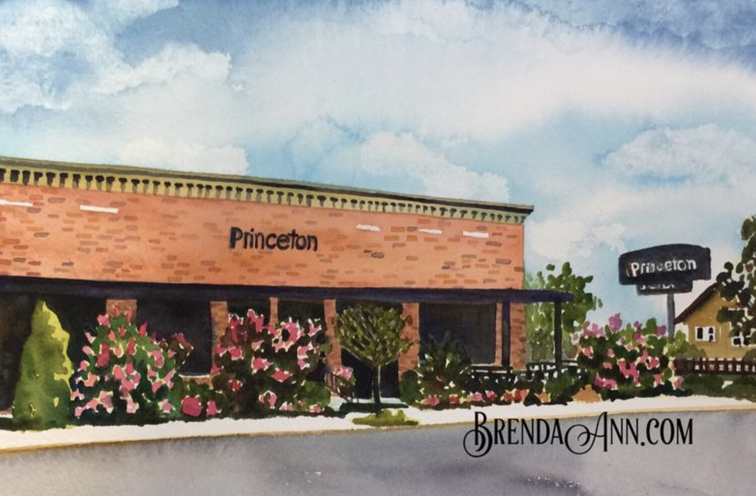 The Princeton Bar & Grill in Avalon, NJ - Hand Signed Archival Watercolor Print