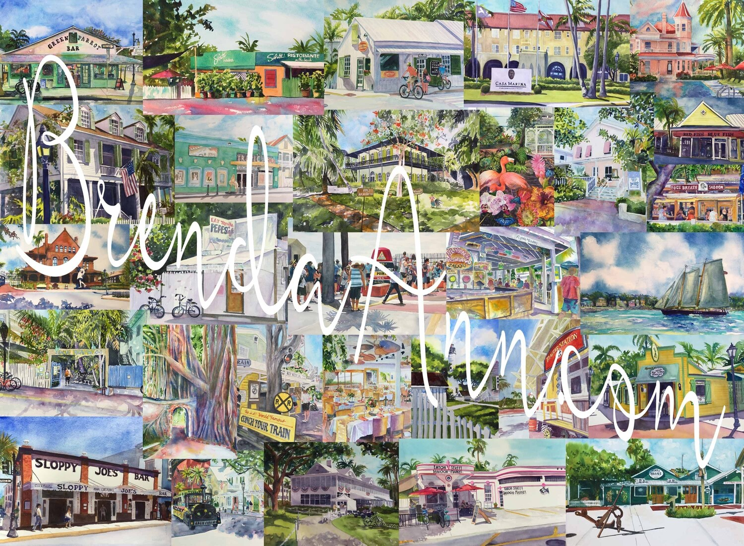 Key West, FL - Hand Signed Archival Watercolor Print