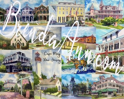 Cape May, NJ - Hand Signed Archival Watercolor Print