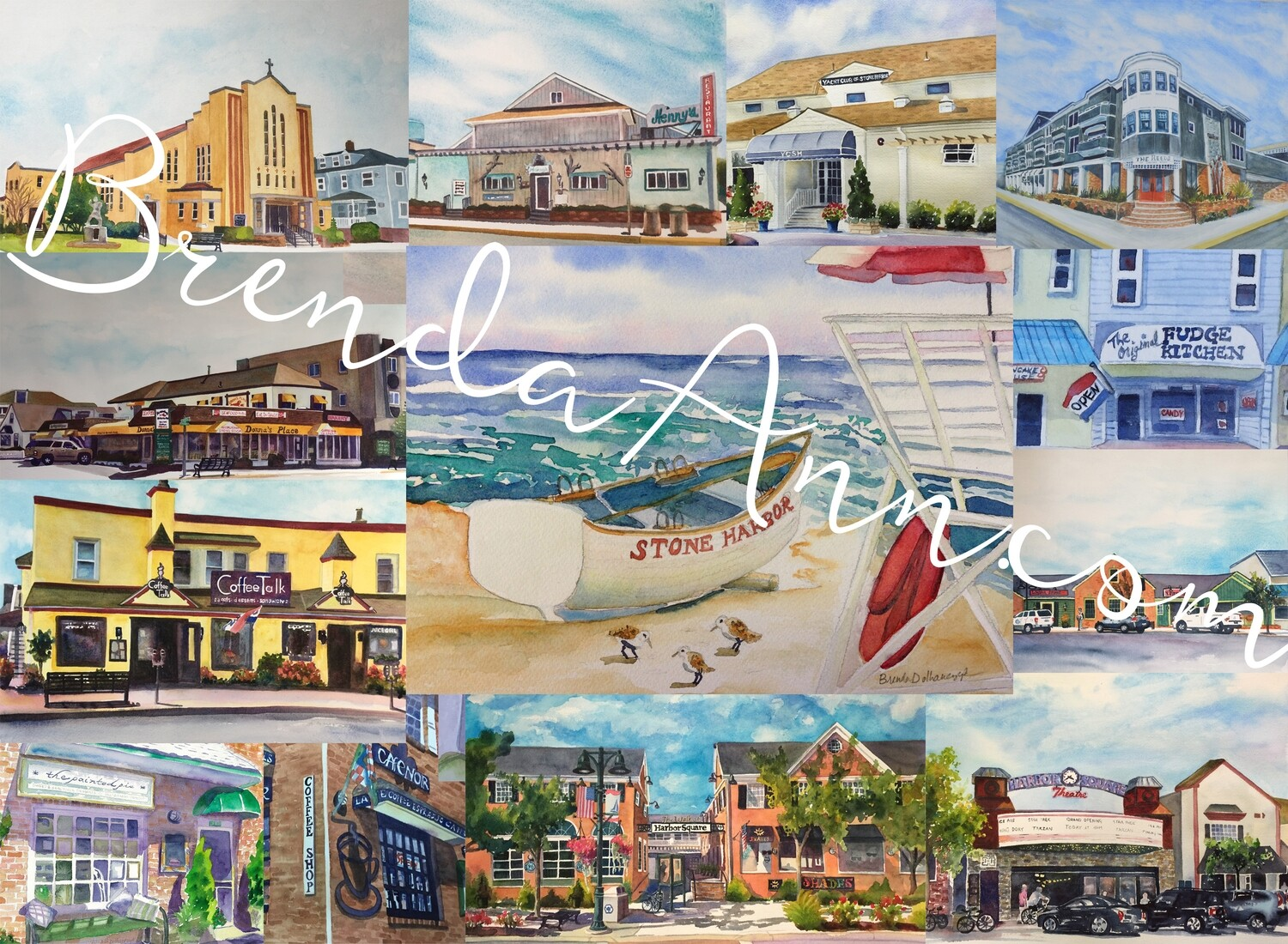 Stone Harbor, NJ - Hand Signed Archival Watercolor Print