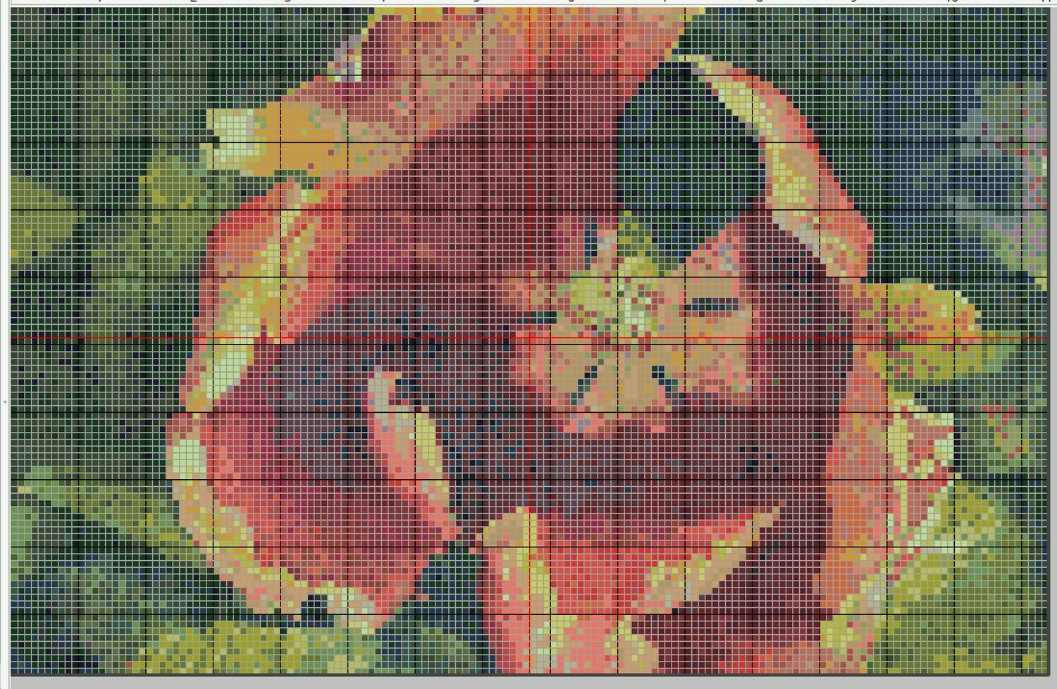 Beautiful Floral Cross Stitch - Orange Parrot Tulip - Pattern Only - Instant Digital Download