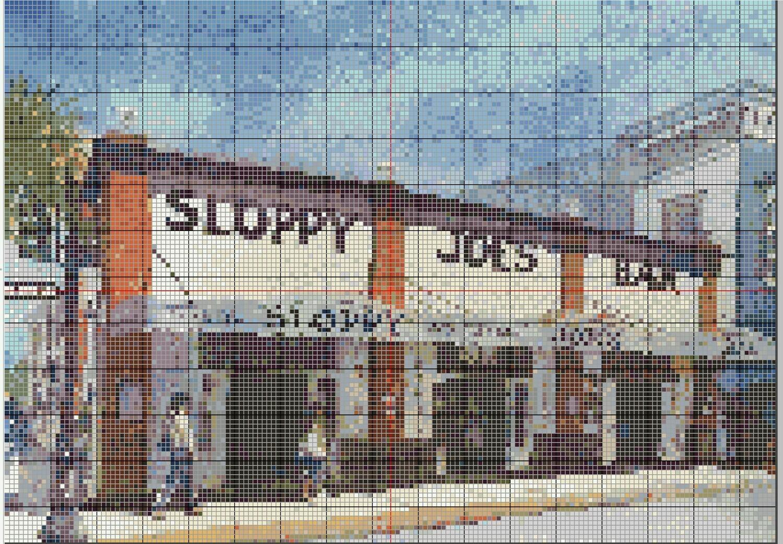 Fun Key West Cross Stitch - Sloppy Joe's Bar - Pattern Only - Instant Digital Download