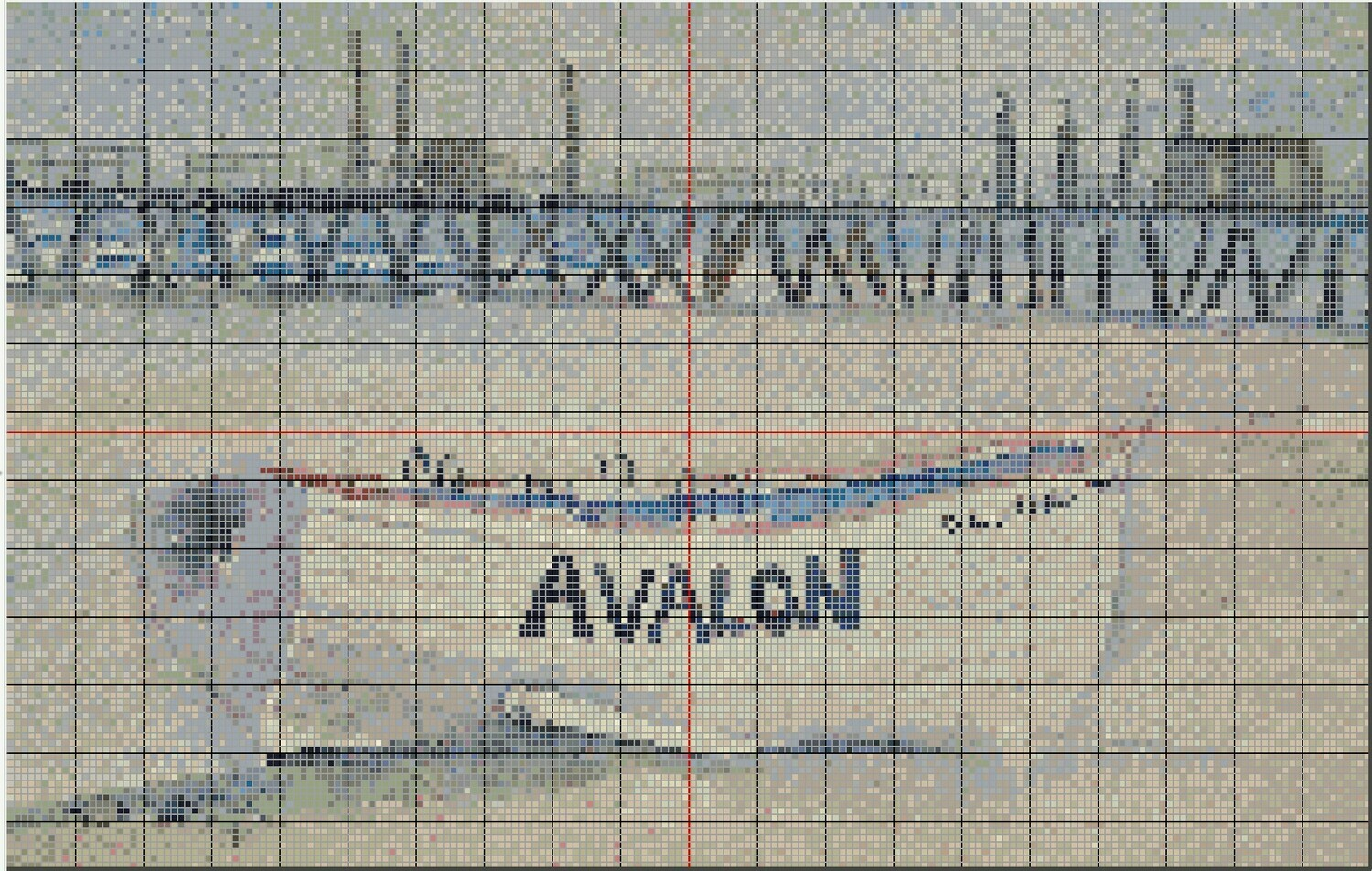 Beachy Avalon NJ Cross Stitch - Lifeguard Boat - Pattern Only - Instant Digital Download