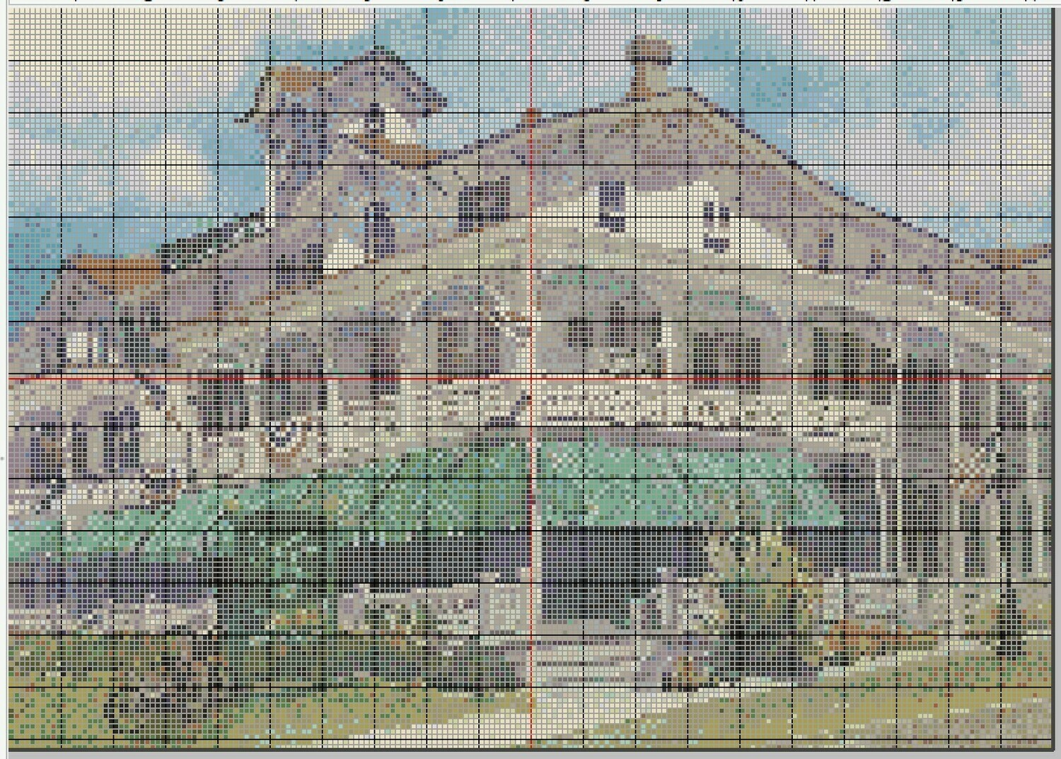 Beautiful Cape May NJ Chalfonte Hotel Cross Stitch - Pattern Only - Instant Digital Download
