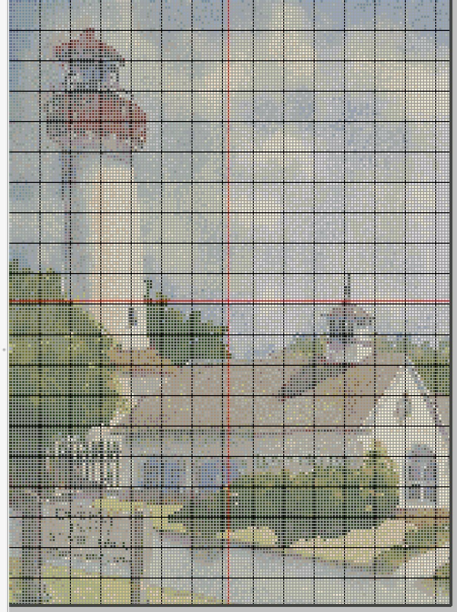 Cape May NJ Lighthouse Cross Stitch - Pattern Only - Instant Digital Download