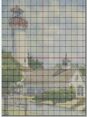 Beautiful Cape May NJ Lighthouse Cross Stitch - Pattern Only - Instant Digital Download