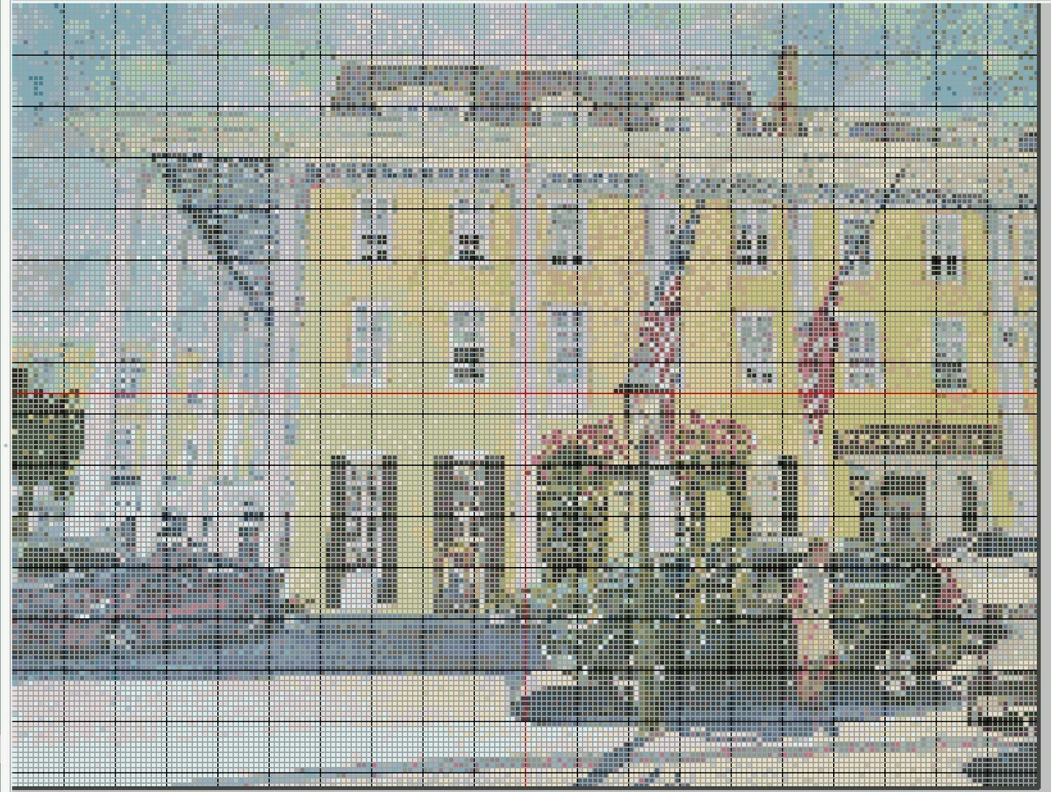 Beautiful Cape May NJ Congress Hall Cross Stitch - Pattern Only - Instant Digital Download