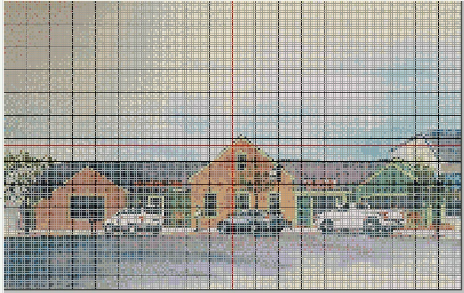 Fun Stone Harbor NJ Cross Stitch - Fred's Tavern - Pattern Only - Instant Digital Download