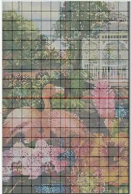 Beautiful Key West Butterfly Garden Cross Stitch - Pattern Only - Instant Digital Download