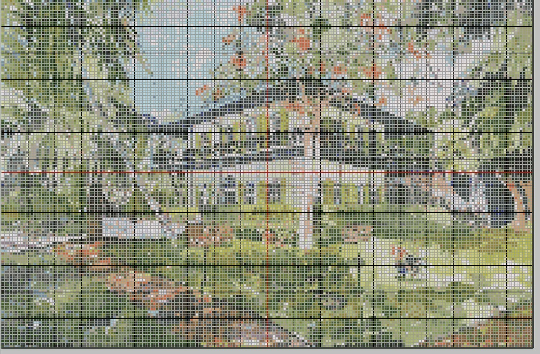 Key West Cross Stitch - Ernest Hemingway Home & Museum in Key West, FL - Pattern Only - Instant Digital Download