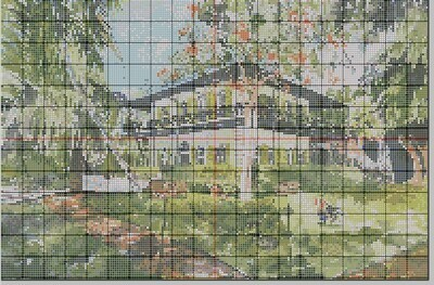Key West Cross Stitch - Ernest Hemingway Home & Museum in Key West, FL - Pattern Only - Instant Digital Download