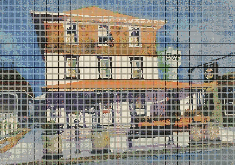 Stone Harbor NJ Springer's Ice Cream Cross Stitch - Pattern Only - Instant Digital Download