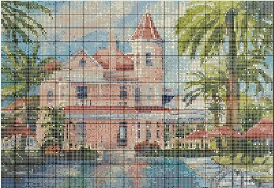 Key West Cross Stitch - Southernmost House - Pattern Only - Instant Digital Download