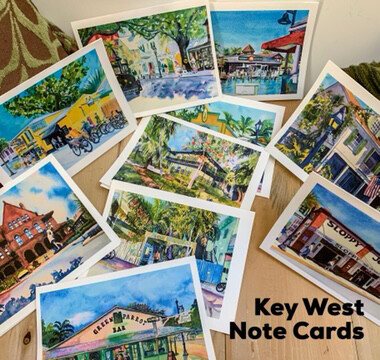 Set of 10 Assorted Cards + Envelopes - Key West, Cape May, Avalon, Stone Harbor or Floral Assortment