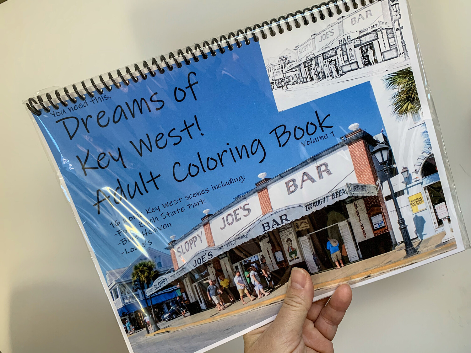 Key West Adult Coloring Book - Dreams of Key West! Volume 1