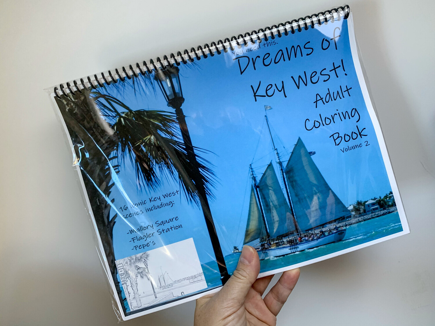 Key West Adult Coloring Book - Dreams of Key West! Volume 2