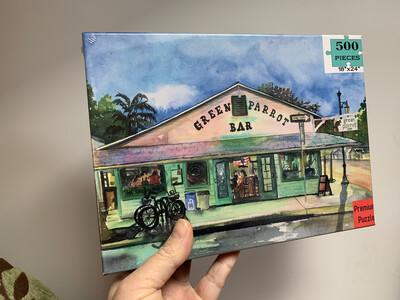 Key West Puzzle - 500 Piece Green Parrot Bar Puzzle 18