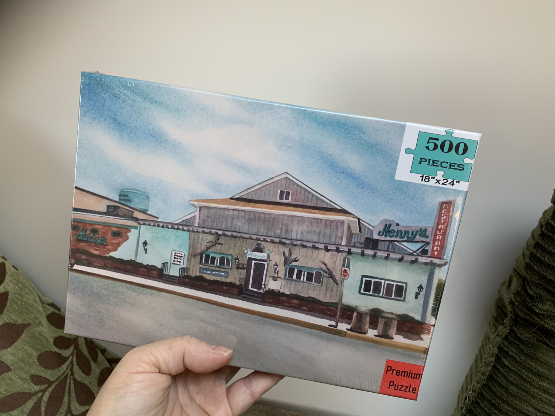 "Stone Harbor Puzzle - 500 Piece Henny's Restaurant Puzzle 18""x24"""