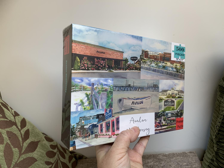 """Avalon NJ Puzzle - 500 Piece Puzzle  18""""x24"""""""