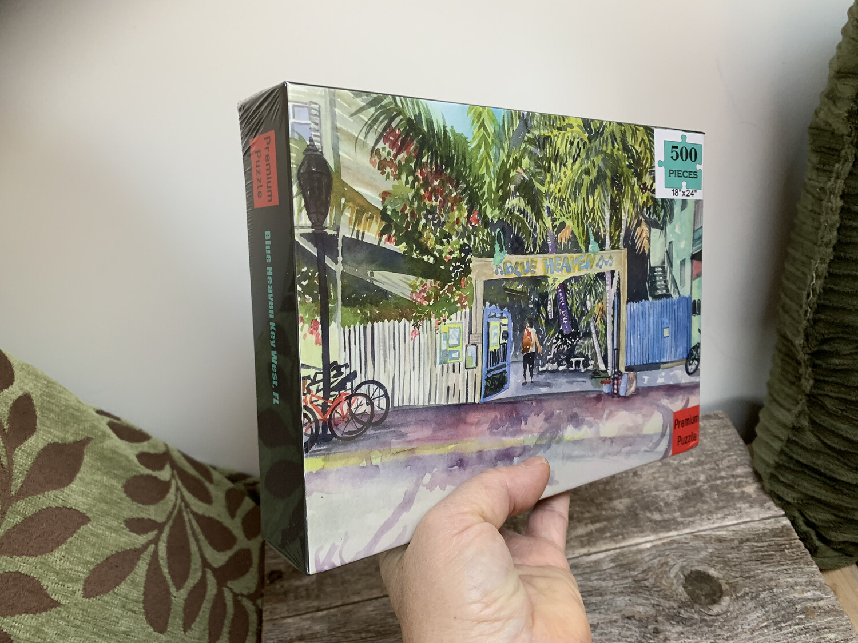"""Key West Puzzle - 500 Piece Blue Heaven Puzzle 18""""x24"""""""