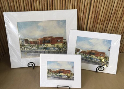 Add A Mat For A Watercolor Print - 3 Sizes - Only Sold With Print Purchase - Not Sold Separately