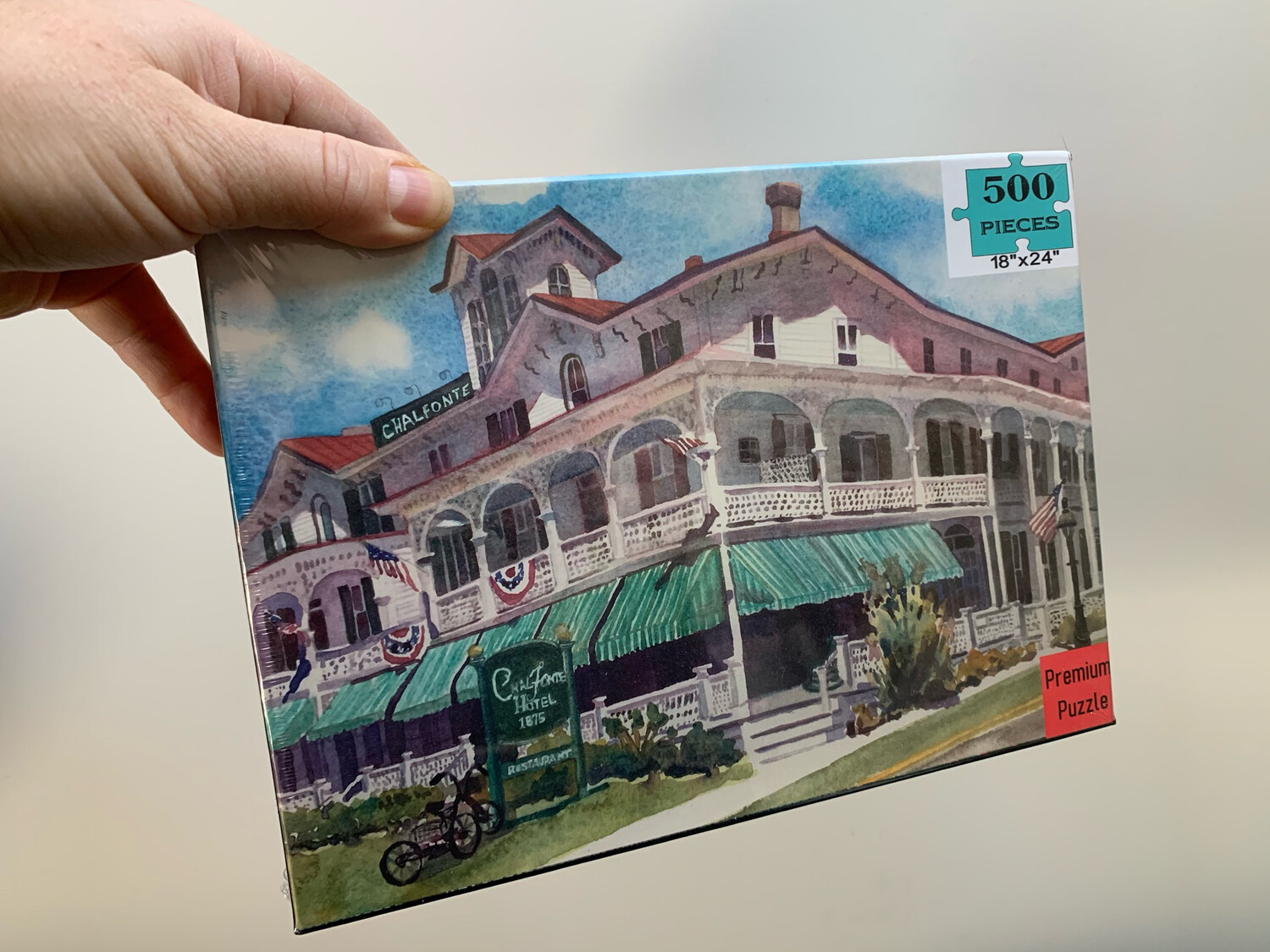 "Cape May Puzzle - 500 Piece Chalfonte Hotel Puzzle 18""x24"""