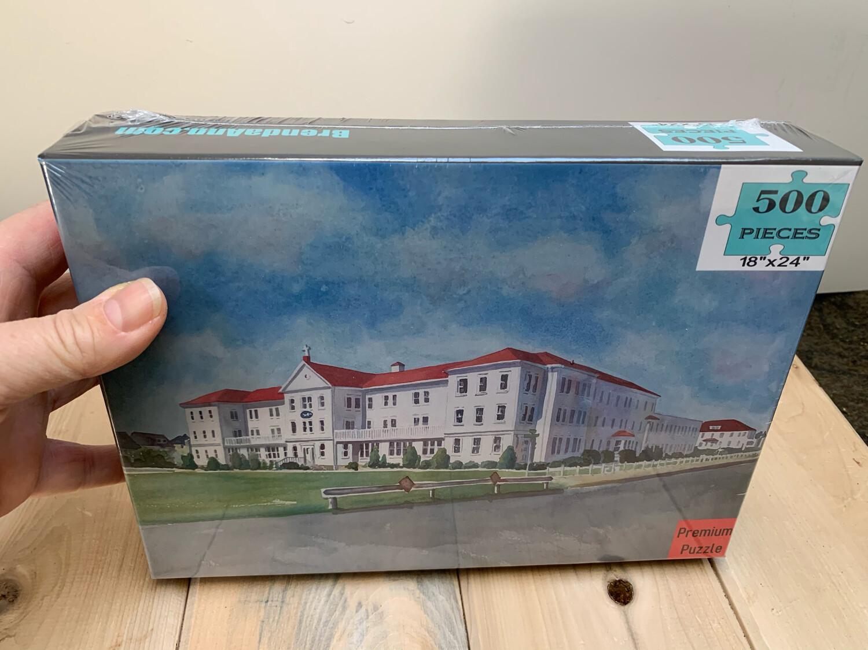 "Stone Harbor Puzzle - 500 Piece Villa Maria By the Sea Puzzle 18""x24"""