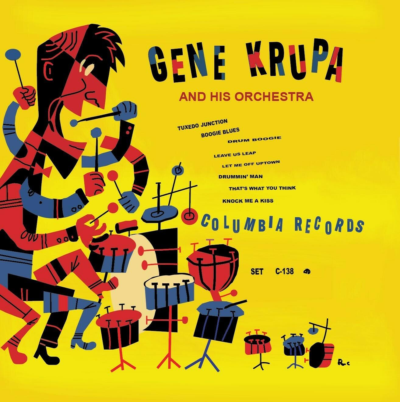 Gene Krupa - Duplicate Record Album Assignment - Digital Art