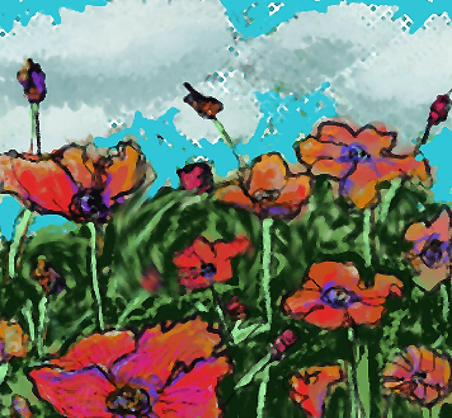 Poppies - Digital Art
