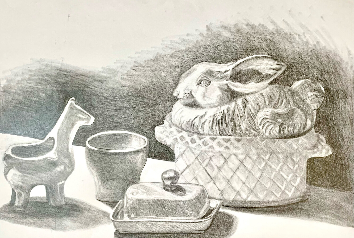 Still Life with Rabbit Crock - Graphite