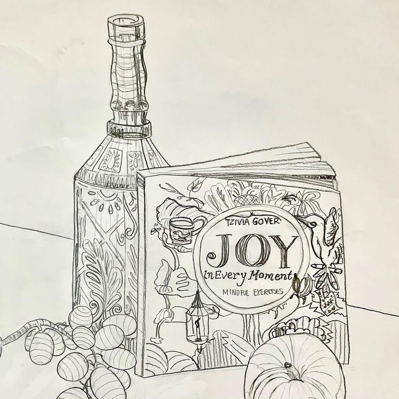 Joy Still Life - Contour Drawing - Graphite