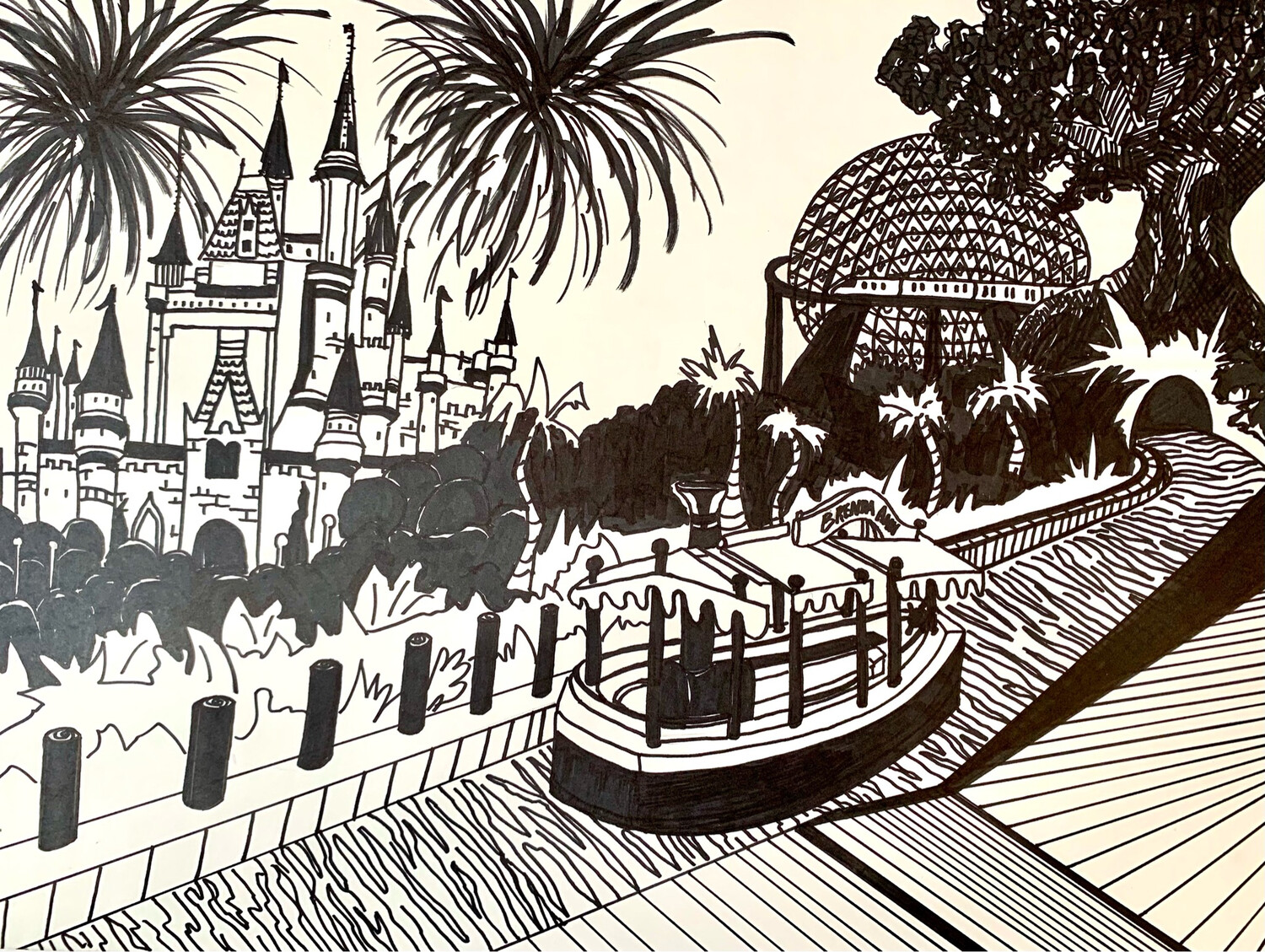 Disney Theme Parks - Line Project - Marker