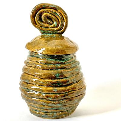 Coiled Honey Jar - Ceramic