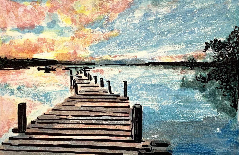 Brown Dock - Mono Print