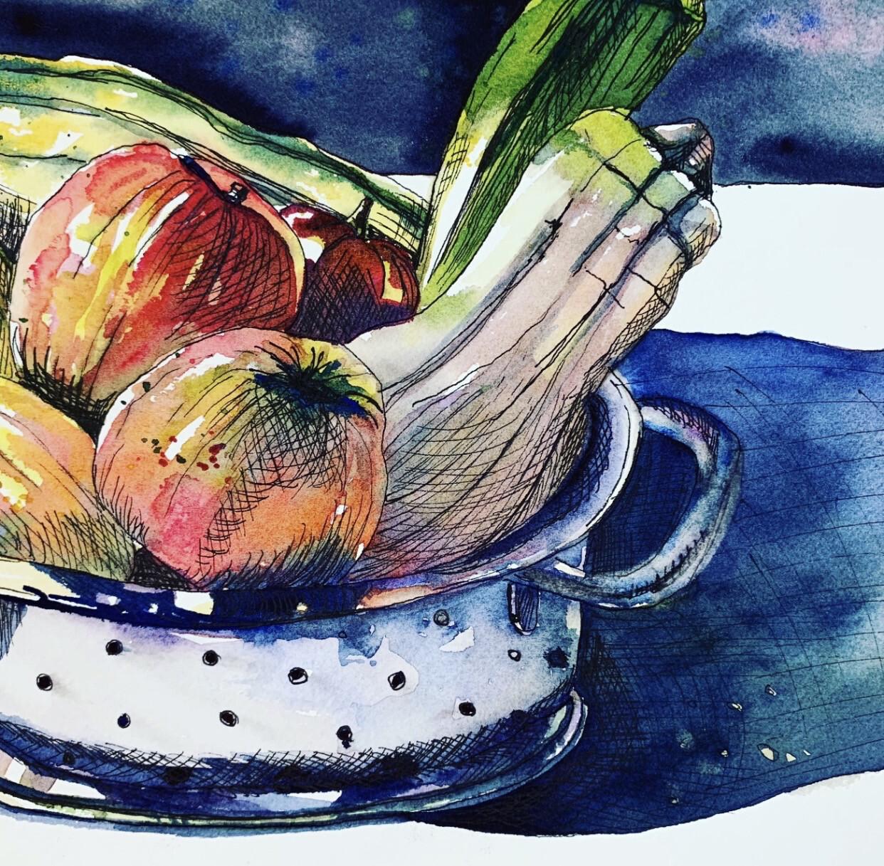 Fruit and Veg Colander - Mixed Media