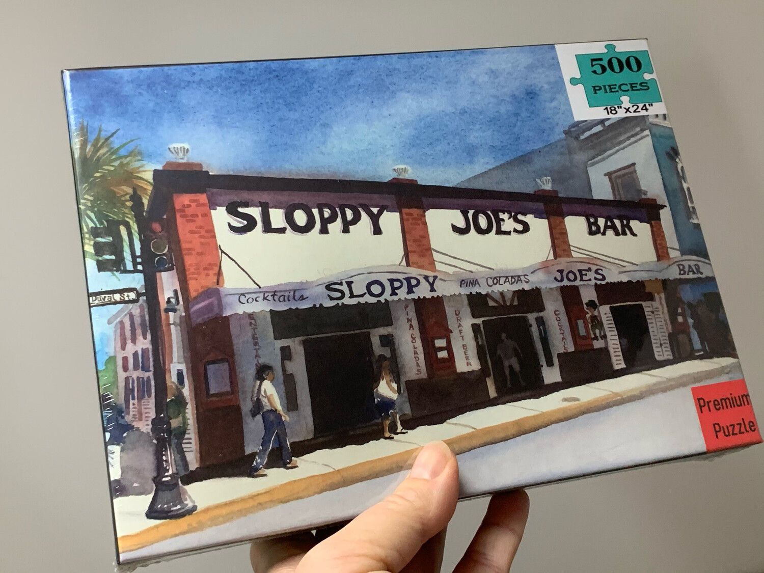"Key West Puzzle - 500 Piece Sloppy Joe's Puzzle 18""x24"""