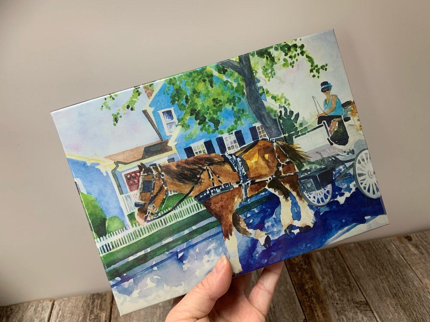 """Cape May Puzzle - 500 Piece Horse And Carriage Puzzle 18""""x24"""""""