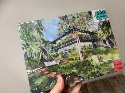 Key West Puzzle  - 500 Piece Ernest Hemingway Home & Museum Puzzle 18